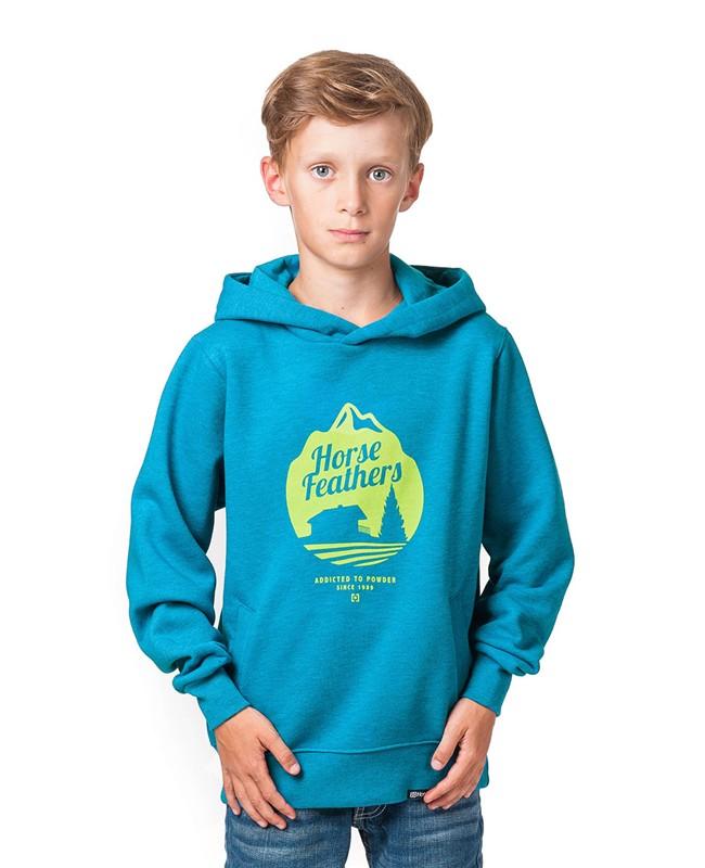 HORSEFEATHERS Horsefeathers mikina Chalet Kids (heather blue) M